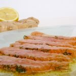 Salmone marinato all'aneto