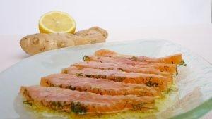 Salmone marinato all'aneto