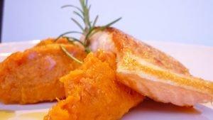 Salmone e patate dolci