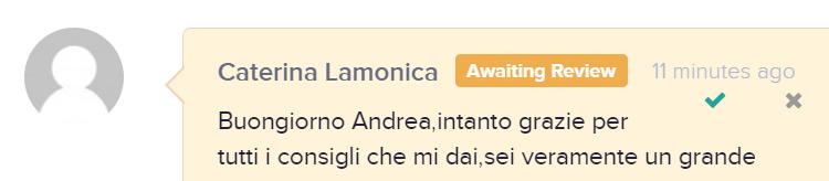 Recensione CATERINA LAMONICA