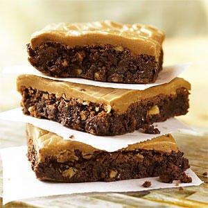 brownies al caramello