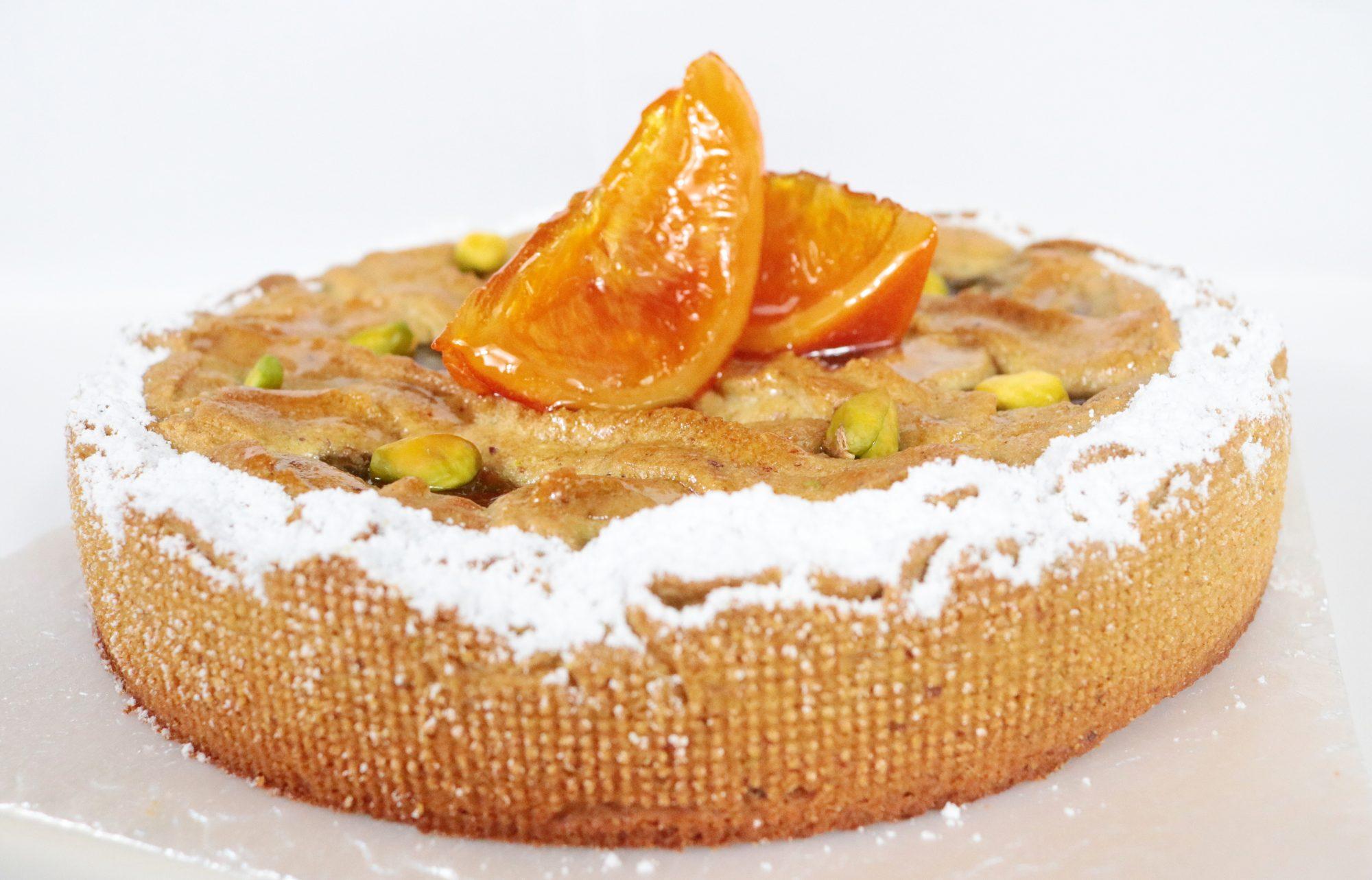 crostata pistacchio e arancia