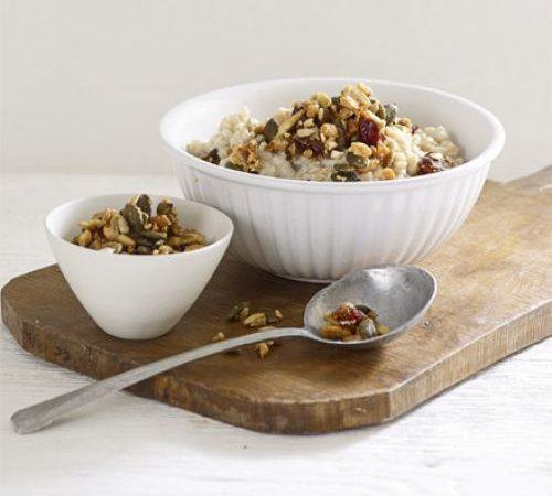porridge di quinoa e granola